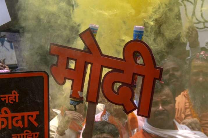 नरेंद्र मोदी की अगुवाई में भारतीय जनता पार्टी ने इन चुनावों में अभूतपूर्व सफलता हासिल की है | PTI Re- India TV Hindi