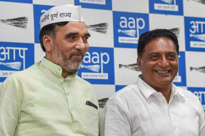 Aam Aadmi Party (AAP) leader Gopal Rai and...- India TV