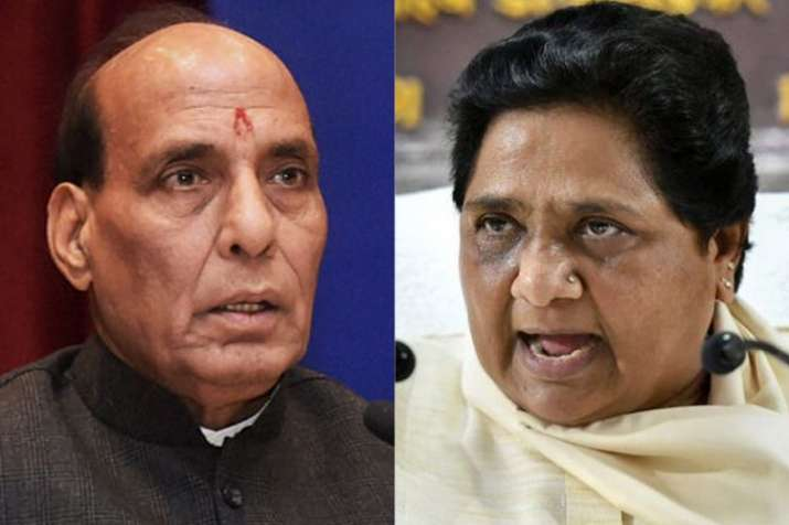 Home Minister Rajnath Singh and BSP Chief Mayawati   PTI File- India TV Hindi