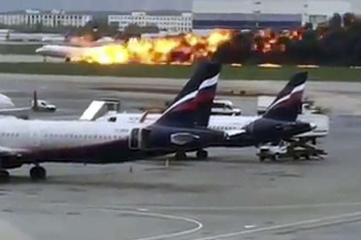 Russian plane burst into flames at Sheremetyevo airport | AP- India TV