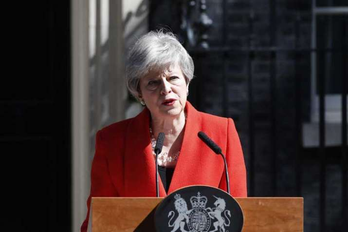 British Prime Minister Theresa May announces...- India TV