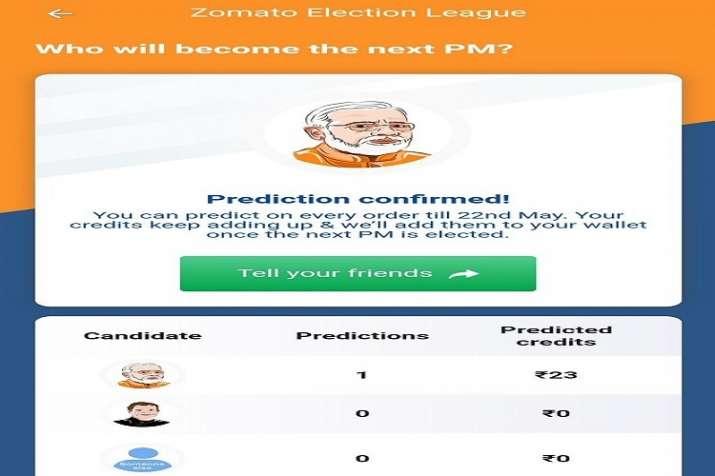 Zomato Election League- India TV Hindi