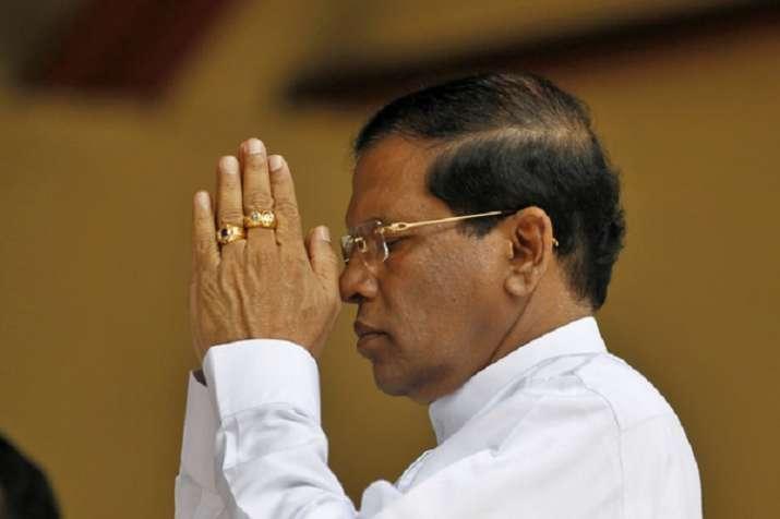 श्रीलंका के राष्ट्रपति मैत्रीपाला सिरिसेना- India TV Hindi