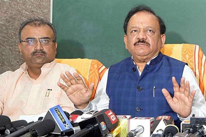 Bihar Health Minister Mangal Pandey with Union Health Minister Harsh Vardhan | ANI File- India TV Hindi