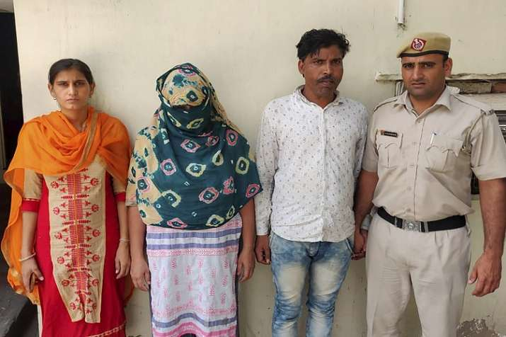 Haryana police arrested two persons, including a woman,...- India TV