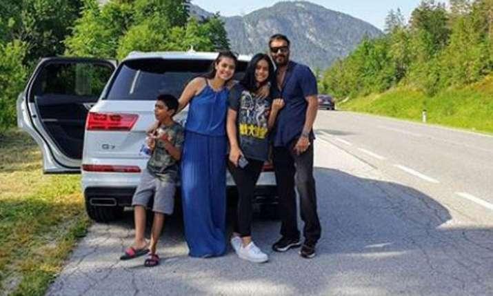 Kajol and Ajay Devgn with their kids- India TV