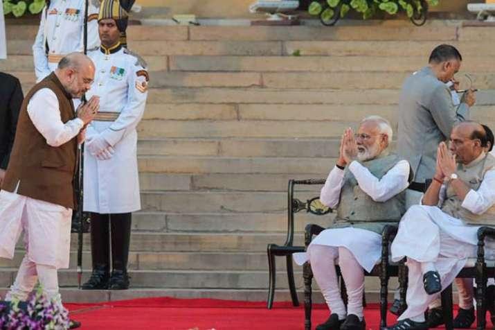 Amit Shah, Narendra Modi and Rajnath Singh | PTI- India TV