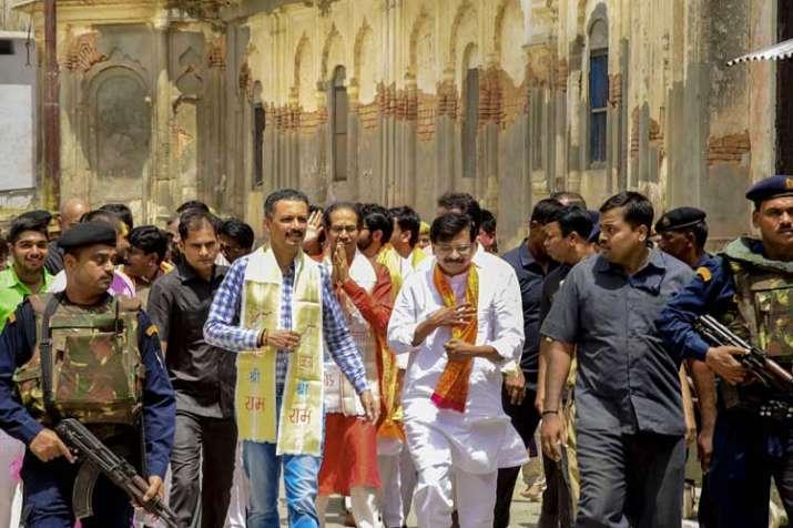 Shiv Sena chief Uddhav Thackeray along with...- India TV