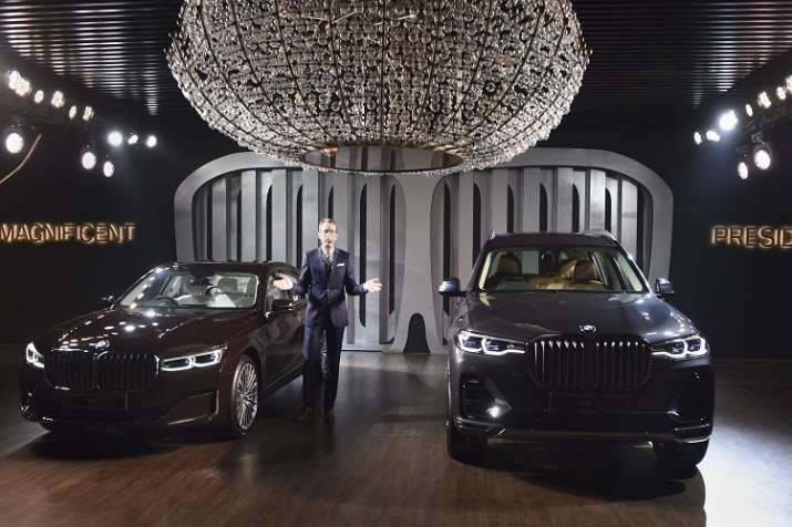 BMW Group India President Dr. Hans Christian Baertels during the launch of BMW 7 Series and BMW X7, - India TV Paisa