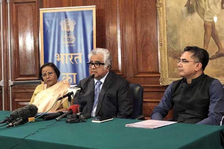 Senior advocate Harish Salve addresses a press...- India TV