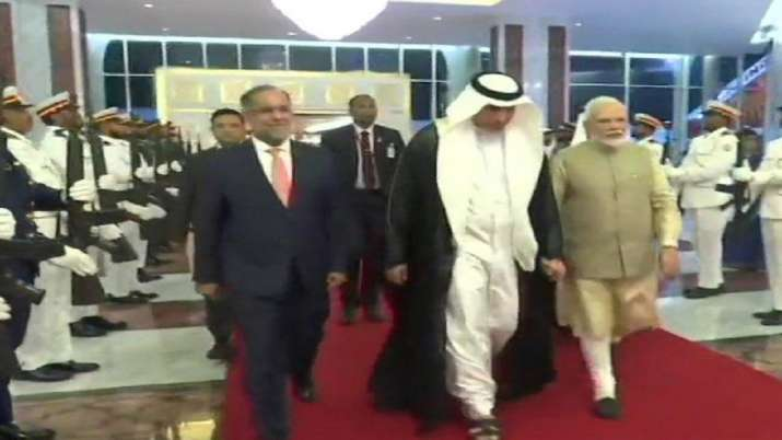 Prime Minister Narendra Modi arrives at Abu...- India TV