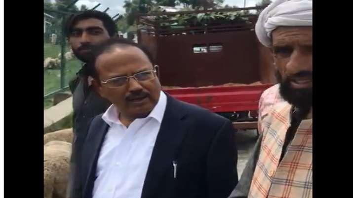 NSA Ajit Doval at Ananatnag- India TV