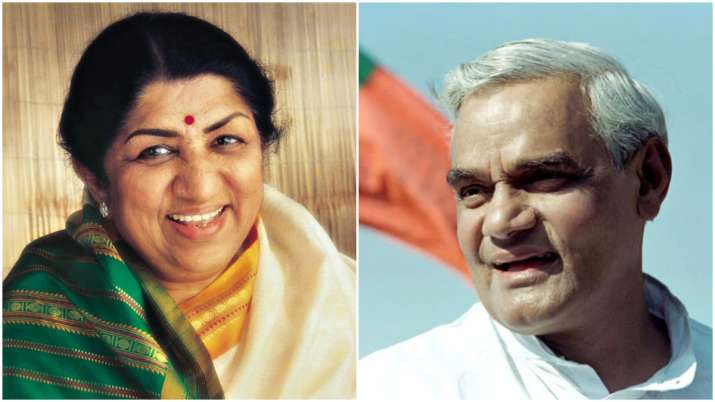 Lata Mangeshkar and atal bihari vajpayee- India TV