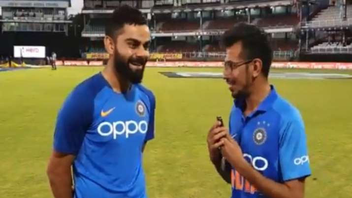 Virat Kohli and Yujvender chahal- India TV
