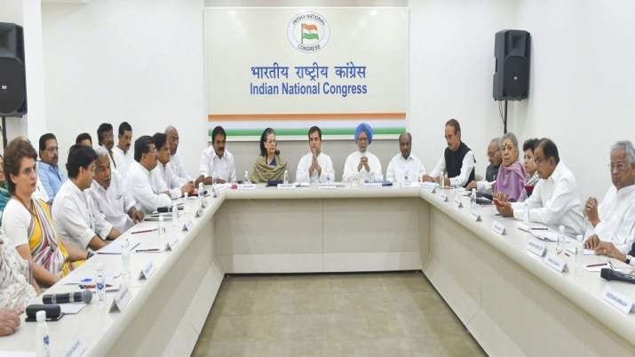 Congress to hold CWC meeting on 10 August- India TV