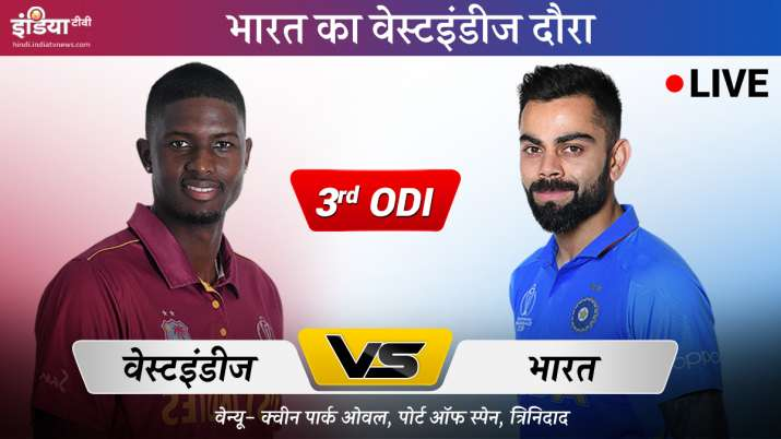 Live Cricket Match Streaming India vs West Indies 3rd ODI on Sony Ten 1 Sony Sony Ten 3 and Sony LIV- India TV Hindi