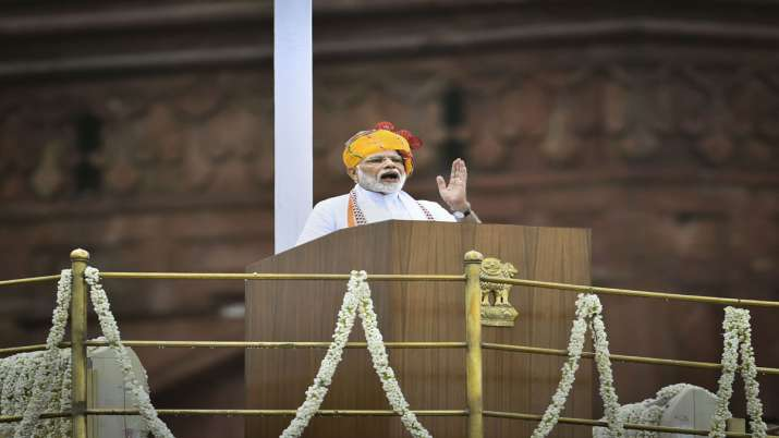 PM Modi emphasis on one nation one election during his independence day speech from lal qila- India TV