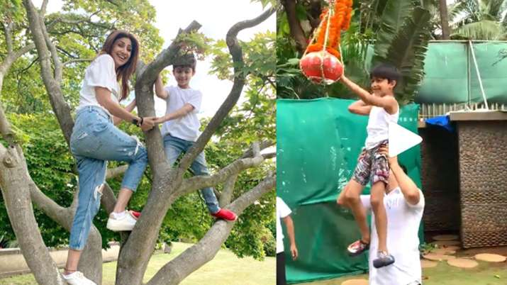 Shilpa Shetty with son Viaan- India TV Hindi