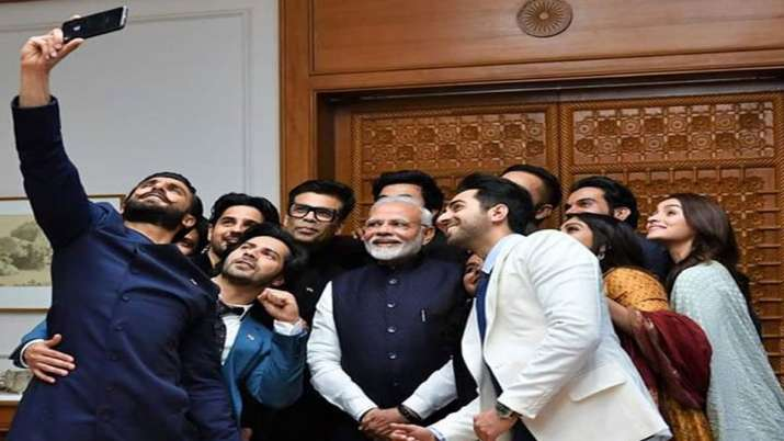 PM Modi with bollywood stars- India TV