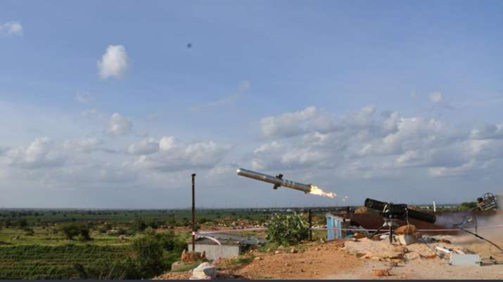 India successfully test fired Man Portable Anti Tank Guided Missile system- India TV