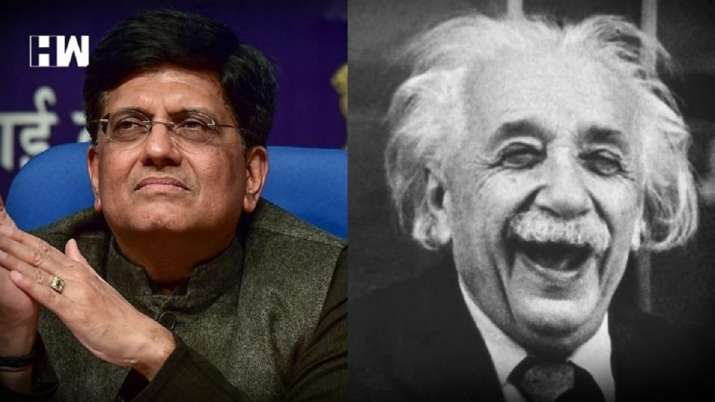 Piyush Goyal trolled for Einstein Discovered Gravity  Remark Goes Viral - India TV Paisa