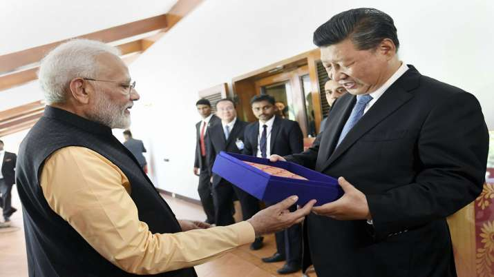 Prime Minister Narendra Modi with Chinese President Xi Jinping