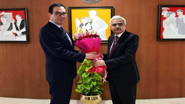 US Treasury Secretary meets RBI Governor Shaktikanta Das  in the financial capital on Saturday- India TV Paisa