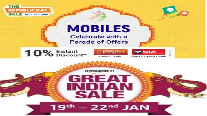 Amazon Flipkart sale 2020, Flipkart The Republic Day sale, Amazon's Great Indian Sale- India TV Paisa