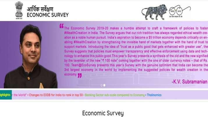 Economic Survey 2019-20 highlights- India TV Paisa