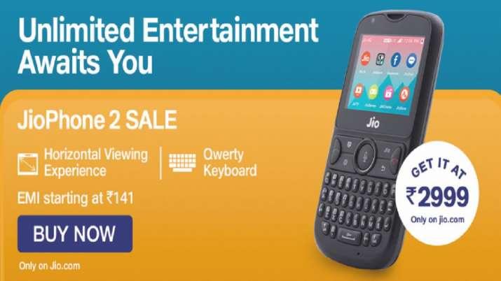 Reliance jiophone 2 Sale, Reliance jio, jiophone- India TV Paisa