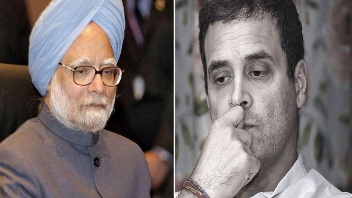 Manmohan Singh and Rahul Gandhi- India TV