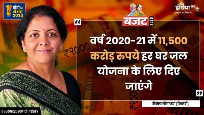 Budget 2020, Nirmala Sitharaman, har ghar jal scheme- India TV Paisa