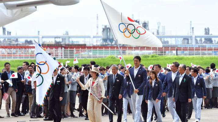 Tokyo Olympic Flag- India TV