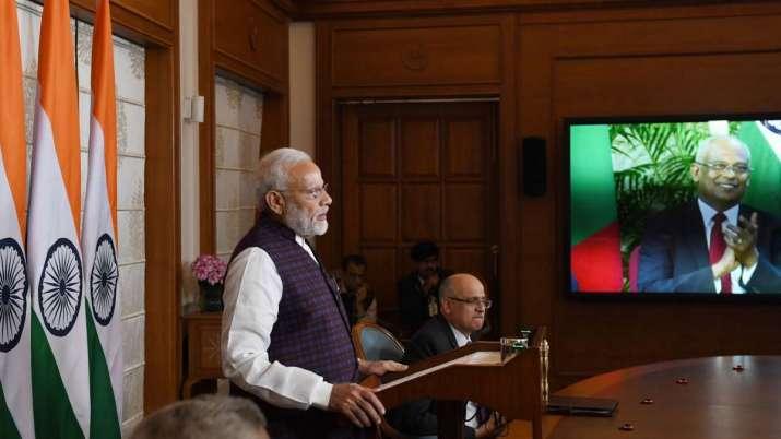 PM Modi Participate  G20 video summit on coronavirus - India TV