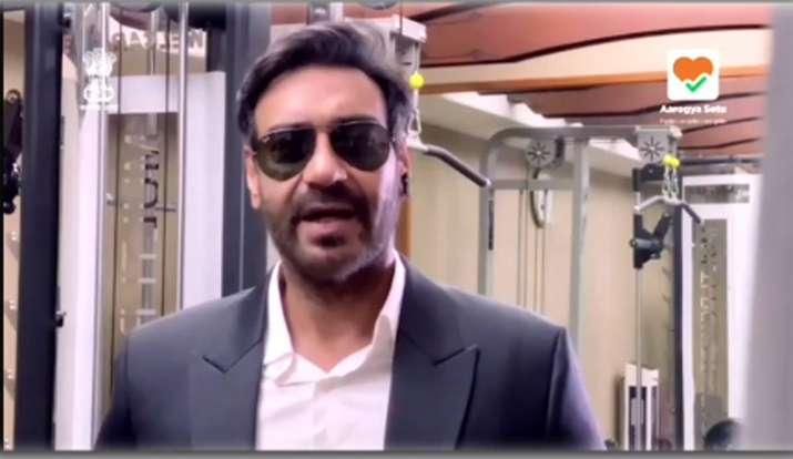 ajay devgn latest video on aarogya setu - India TV