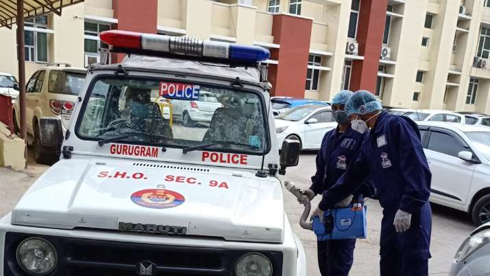 Droom extends its Germ-Shield technology to sanitize the fleet of Gurugram Police - India TV Paisa