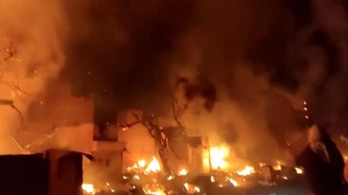 Kirti Nagar Fire, Delhi Fire, Delhi Kirti Nagar Fire, Kirti Nagar Slums Fire, Delhi Slums Fire- India TV Hindi