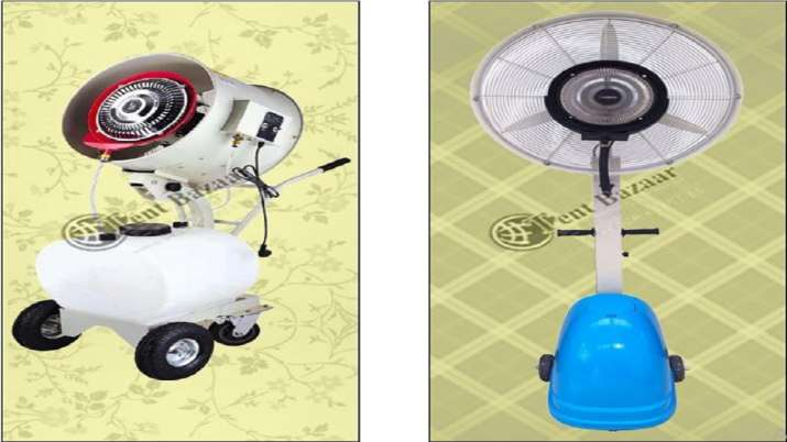 Covid-19: Tent Bazaar introduces mist fan range to sanitize body- India TV Paisa