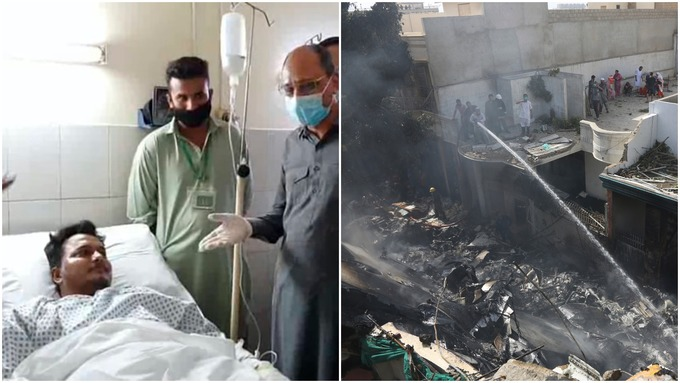 पाकिस्तान: विमान हादसे में जिंदा बचे शख्स ने बताया, दुर्घटना से पहले तीन बार लगे थे झटके - India TV Hindi