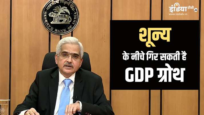 GDP growth is estimated to be in negative territory says RBI governor- India TV Paisa