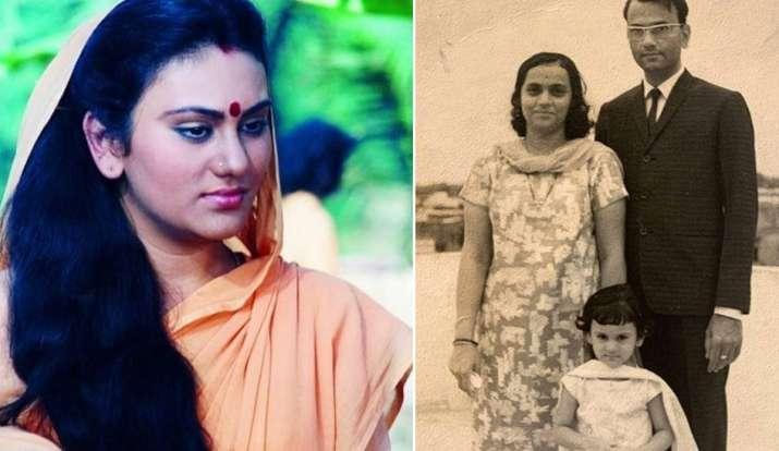Photo of 'रामायण' की 'सीता' दीपिका चिखलिया ने शेयर की बचपन की फोटो, पैरेंट्स के साथ आईं नज़र
