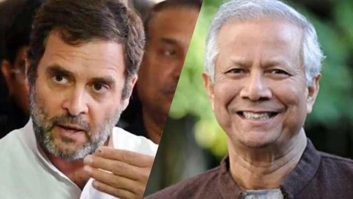 राहुल गांधी और मुहम्मद युनूस- India TV Paisa