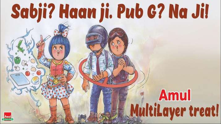 This creative of Amul on PUBG goes viral- India TV Paisa