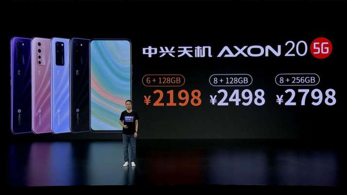 ZTE unveils world's first under-display camera smartphone Axon 20 5G- India TV Paisa