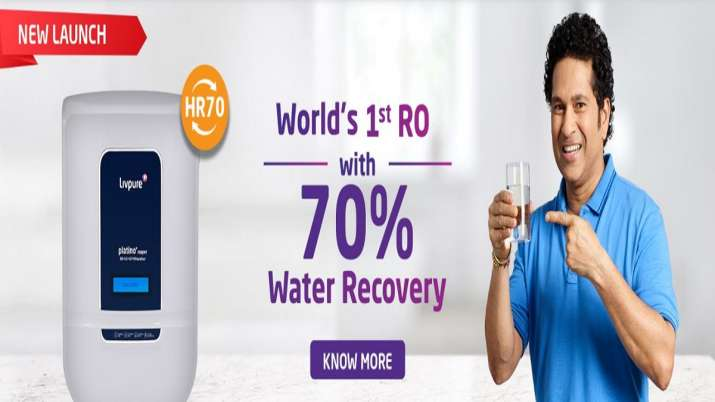 Livpure launches world's first RO water purifier with 70 percent water recovery- India TV Paisa
