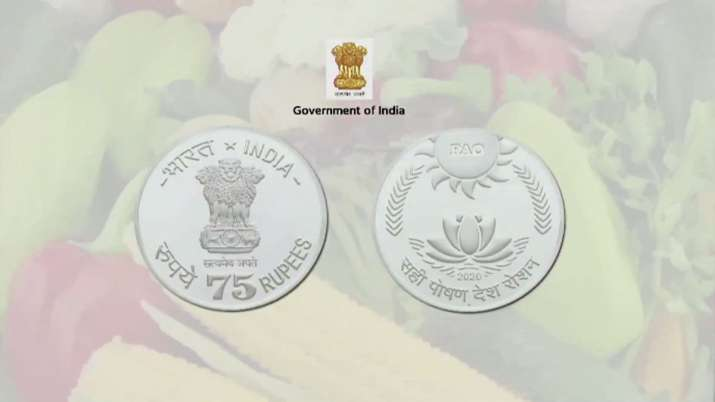 Rs 75 coin released by PM Modi on 75th anniversary of...- India TV Paisa