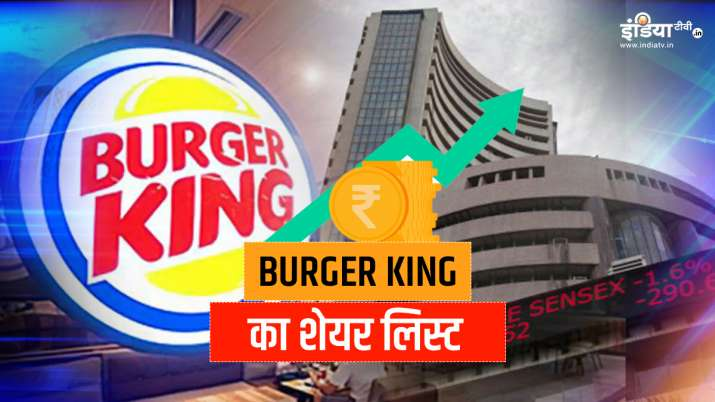 Burger King's share Listed on BSE NSE price- India TV Paisa