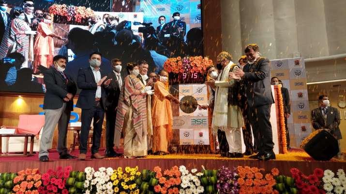 Yogi Adityanath rang the bell at BSE marking the listing of bonds of LMC- India TV Paisa