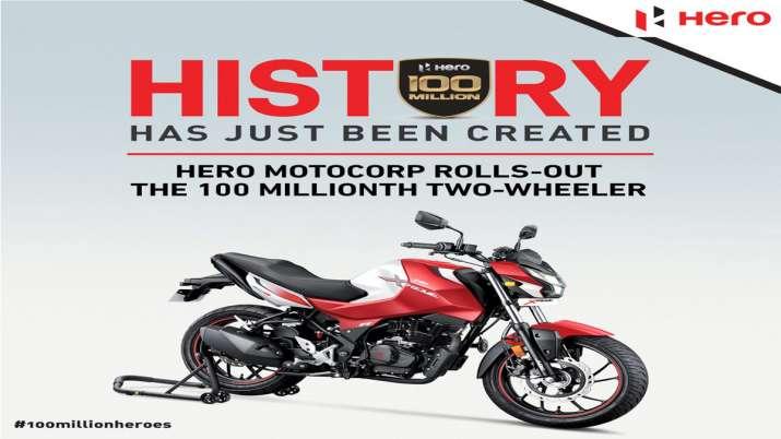 Hero MotoCorp surpasses 100 mn cumulative production milestone- India TV Paisa