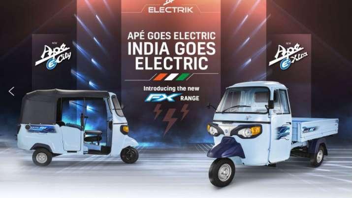 Piaagio व्हीकल्स ने माल ढुलाई के लिये बिजली चालित तिपहिया वाहन उतारा- India TV Paisa